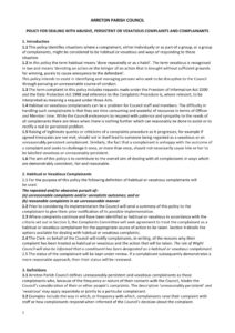 thumbnail of Vexatious policy 2015